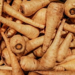stack of parsnips