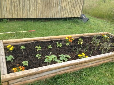 small raised bed for small space gardening