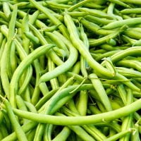 bundle of string green beans