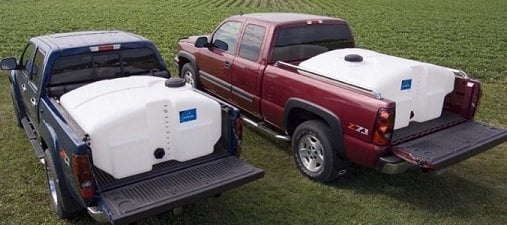 trucks with water tanks installed in the bed